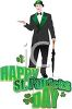 Man Dressed Up for a St Patrick's Day Celebration clipart