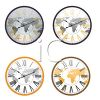 Four Clocks Depicting Different Time Zones clipart