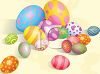 Decorated Easter Eggs and Candy Eggs clipart