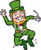 Happy Little Leprechaun Dancing clipart