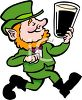 Smiling Leprechaun with a Pint of Ale clipart