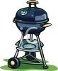 Cartoon Charcoal BBQ clipart