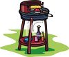 Cooking Corn on the Cob on a Grill clipart