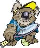 Koala Bear Tennis Team Sports Mascot clipart