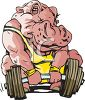 Rhino Lifting Weights clipart