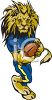 Lion Playing Football clipart