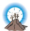 Three Crosses on Calvary Hill clipart