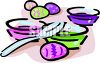 Pots of Dye for Coloring Easter Eggs clipart