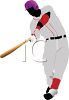 Baseball Player Up to Bat clipart