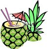 Tropical Drink in a Half Pineapple clipart