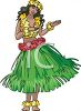 Hawaiian Hula Dancer in a Grass Skirt clipart