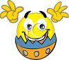 Easter Smiley Hatching from an Egg clipart