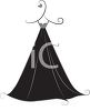 Stylized Gown Design Element clipart