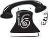 Stylized Phone Ringing Design Element clipart