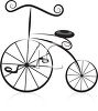 Stylized Old Fashioned Bicycle Design Element clipart