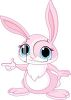 Adorable Easter Bunny with Big Blue Eyes clipart