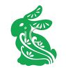 Easter Rabbit Stencil Design clipart