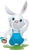Country Rabbit Carrying an Easter Basket clipart