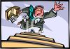 Business Man Falling Down a Flight of Stairs clipart