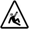 Danger of Slipping Industrial Symbol clipart