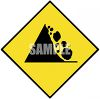 Falling Rock Road Sign clipart