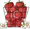 Basket of Spring Strawberries clipart