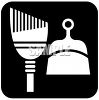 Dustpan and Broom Icon clipart
