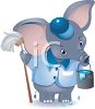 Elephant Janitor clipart