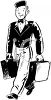 Vintage Bellhop Carrying Bags clipart