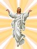 Glowing Christ in White Robes clipart