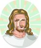 Blond Haired Jesus clipart