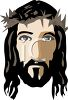 Face of Christ with a Crown of Thorns clipart