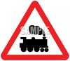 Train Symbol on a Road Sign clipart