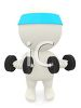 3D Character Using Free Weights to Get in Shape clipart