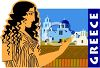 Greece Travel Poster  clipart