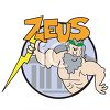 Cartoon of Zeus from Mythology clipart