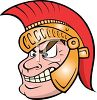 Cartoon of a Greek Trojan Warrior clipart