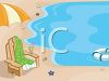 Cartoon of a Beach Scene clipart