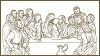 Drawing of the Last Supper clipart
