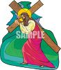 Jesus Carrying His Cross to the Crucifixion clipart