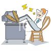 Businessman Snoring with His Feet Up on His Desk clipart