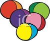 Colorful Plastic Easter Eggs clipart