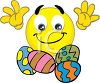 Smiley with Easter Eggs clipart