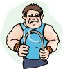 Weightlifter Using a Strength Bar clipart