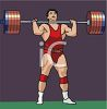 Competition Weightlifter Lifting a Barbell clipart