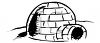 Black and White Image of an Igloo clipart