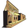 Saloon Front in an Old Western Town clipart