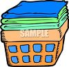 Clean Laundry in a Basket clipart
