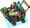 Basket Full of Groceries clipart
