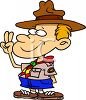 Cartoon of a Young Boy Scout clipart